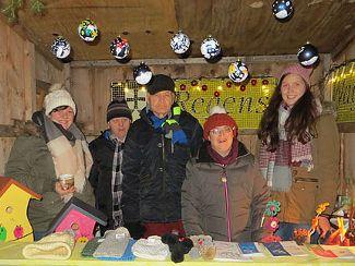 Regens Wagner auf dem Berchinger Weihnachtsmarkt (Dezember 2016)