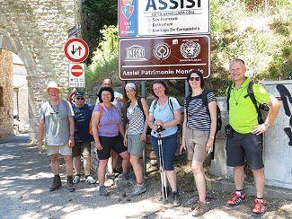 Mitarbeiter von Regens Wagner entdecken Assisi (Juli 2017)