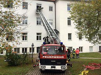 Brandschutzübung mit Evakuierung bei Regens Wagner Holnstein (Oktober 2017)