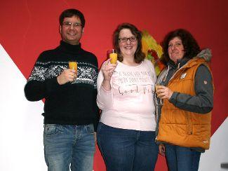 von links: Markus Mossburger (Fachdienst WfbM), Monika Gassner, Andrea Haas (Fachdienst WfbM)